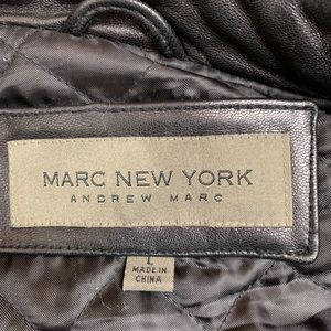 Marc New York Andrew Marc Jackets & Coats - Marc New York Andrew Marc Black Leather Moto Coat